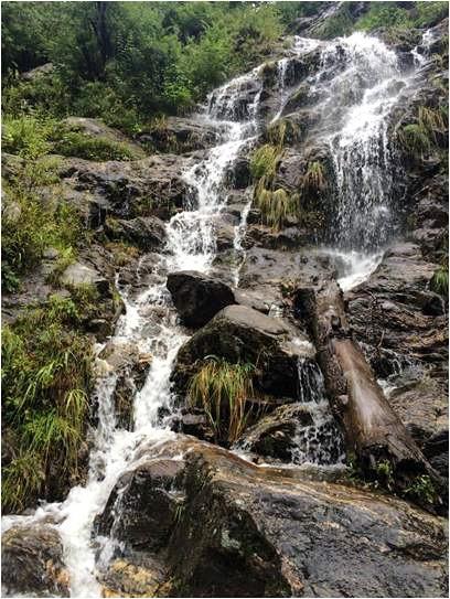 Water Stream on Hike to Hot Water Spring Kheerganga, himachal pradesh