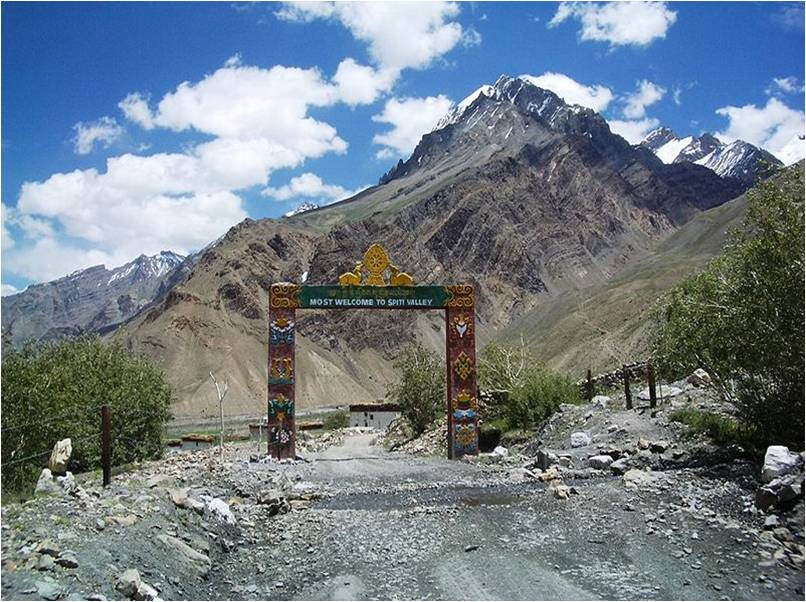 Gateway to Spiti Valley at Losar Village, Himachal Pradesh