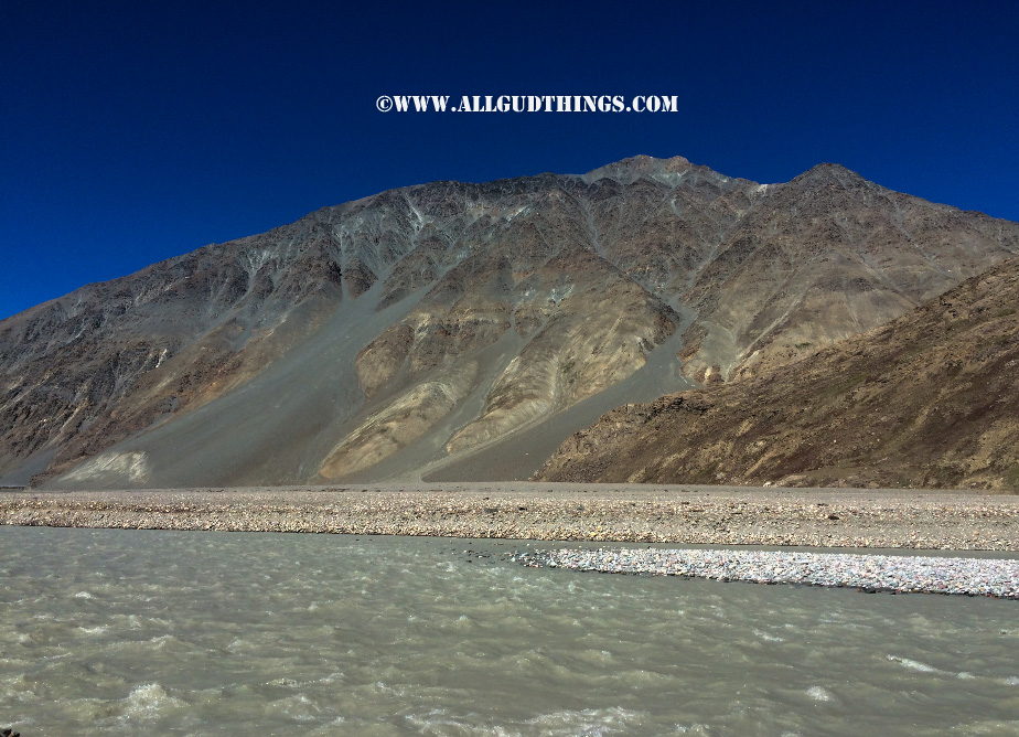At the river bed in Spiti valley, himachal pradesh