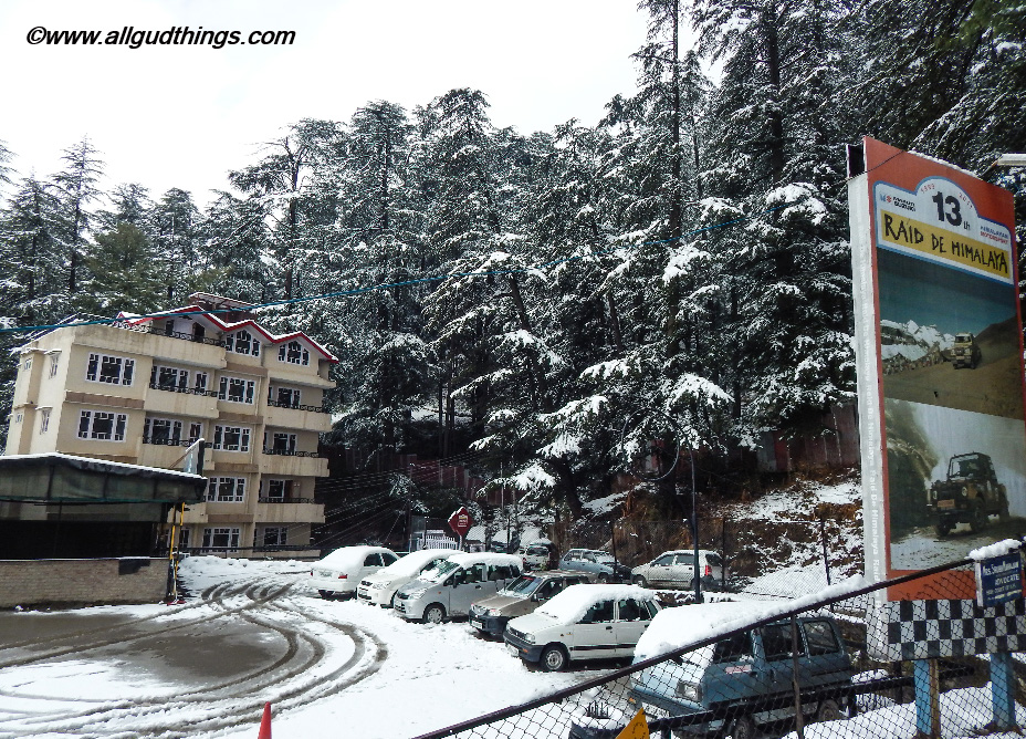 Motor world at Navbahar Shimla - Beautiful Shimla after Snowfall