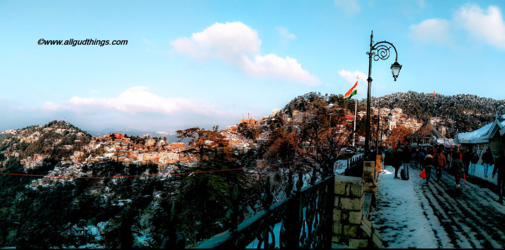 Shimla Ridge - Beautiful Shimla after snowfall