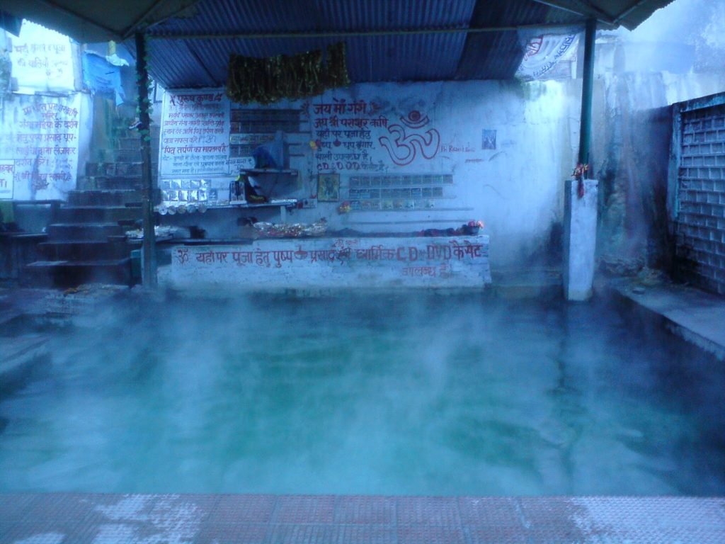 The hot water kund at Gangnani near Uttarkashi in Uttrakhand