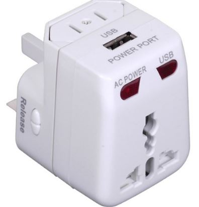 Travel Adapter - Backpackers must carry essentials for a Hostel Stay