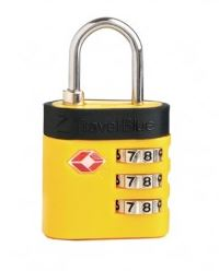 Travel Blue Padlock- Backpackers must carry essentials for a Hostel Stay