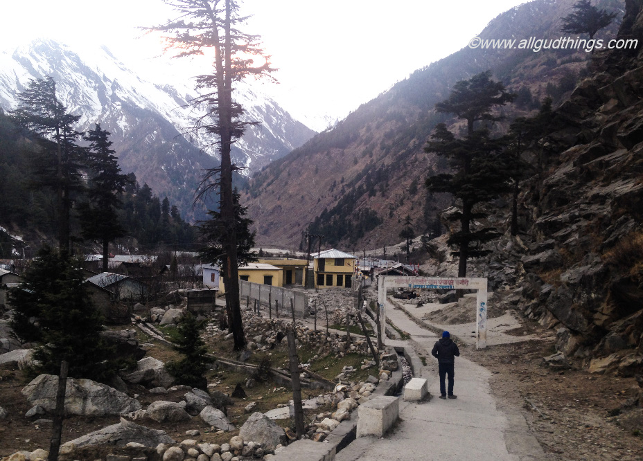 The way to village Bagori - in Harsil Valley of Uttarakhand
