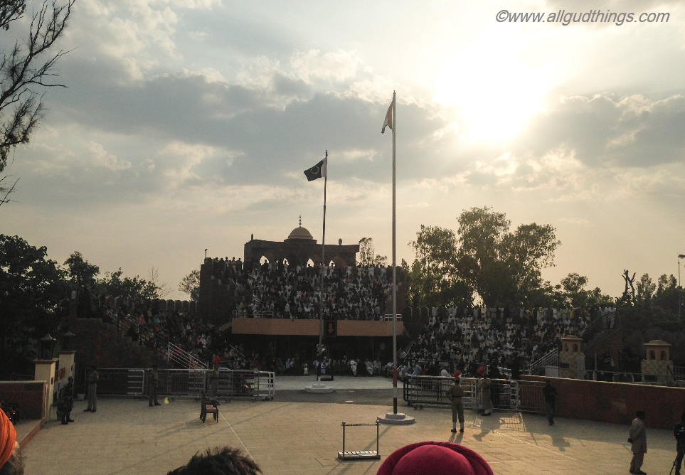 Opened gates for flag retreat ceremony at Hussainiwala Border, Firozpur