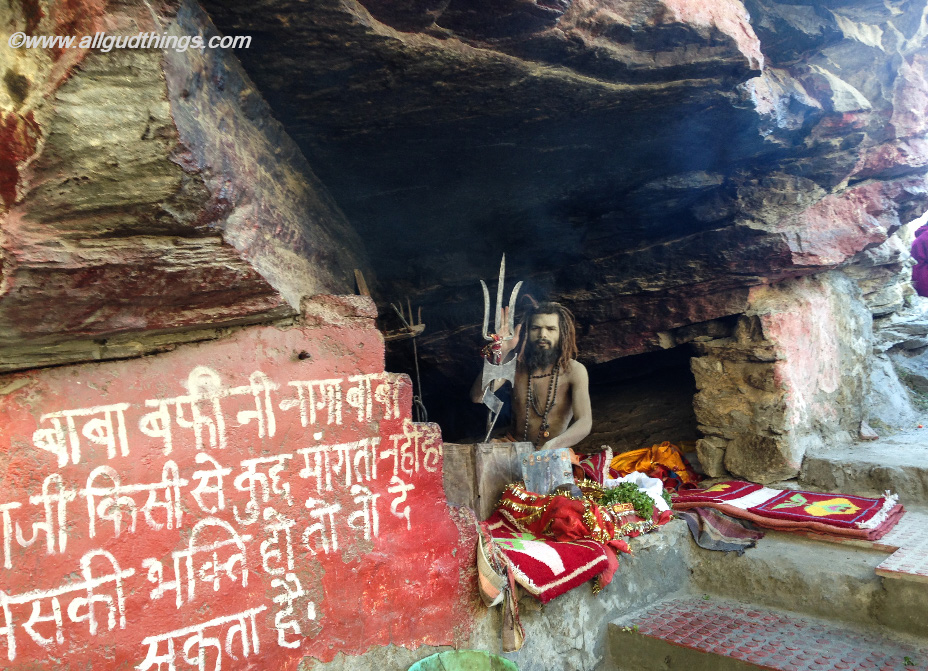 Baba Barfani stays in the cave throughout year at Mana Village