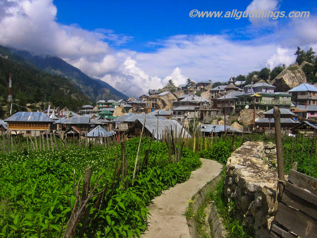Rakcham Village in Sangla Valley at Kinnaur