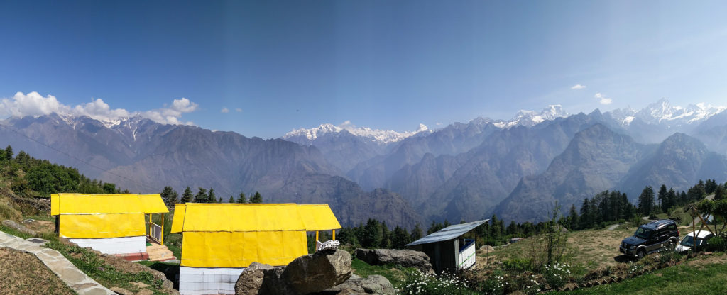 The view of Himalayan Ranges from Auli Resort