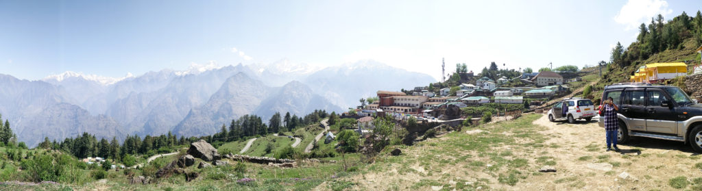 Views of Auli from the Auli resort- The royal Village