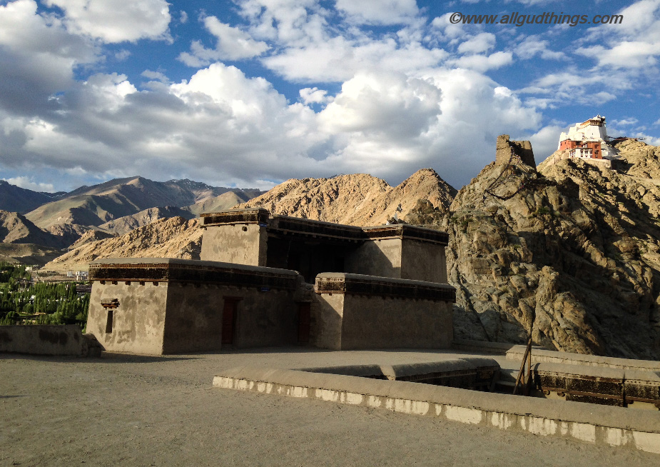 View of ruins of Tsemo Castle and Tsemo Monsatery from eight floor of Leh Palace: 6 must visit Leh ladakh Palaces