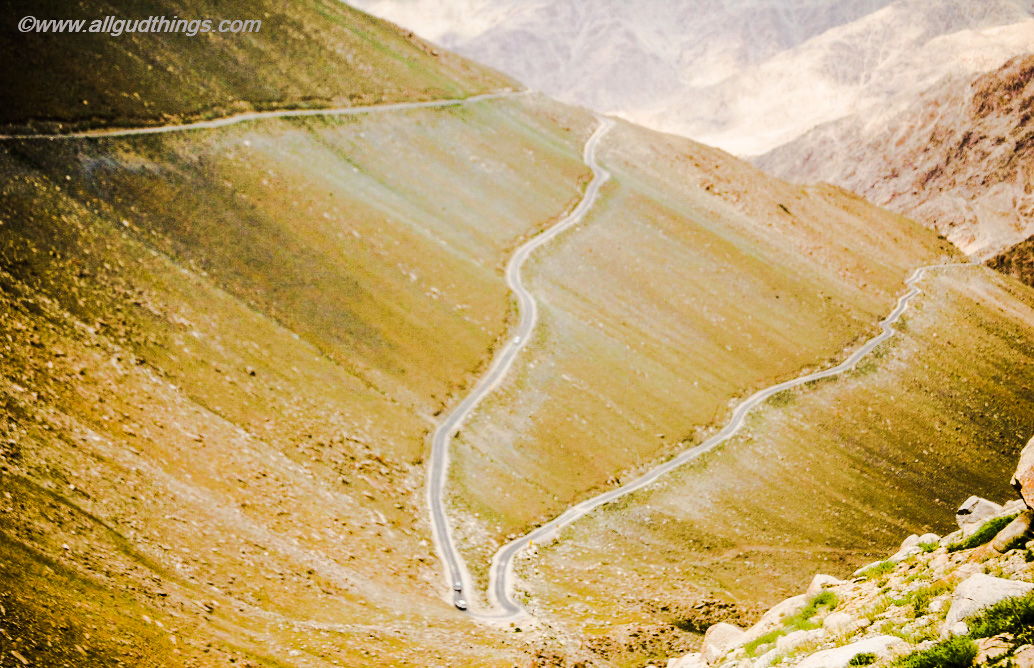 Road to Pangong Tso via Chang La: Ladakh; the land of high passes