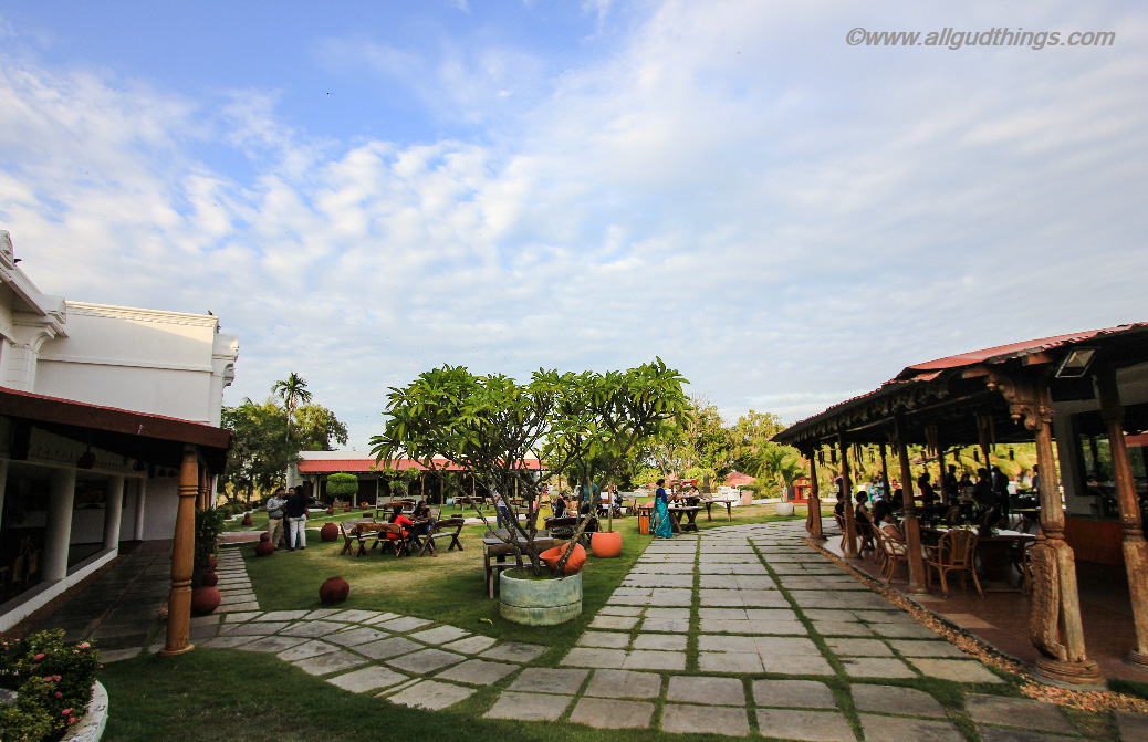 Open Lush green areas at Chariot Resort, Mahabalipuram