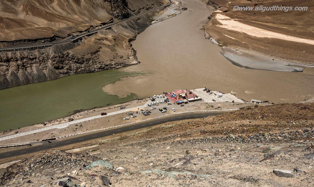 Indus Zanskar Confluence on Srinagar Leh Highway