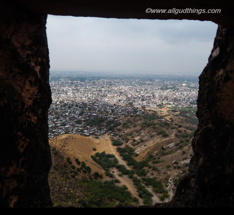 View of Jaipur Pink City from Nahargarh Fort