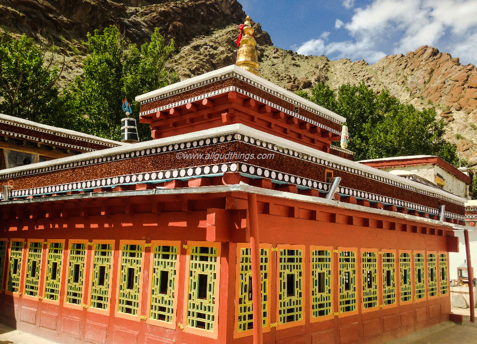 Hemis Monastery Temple Top from Terrace
