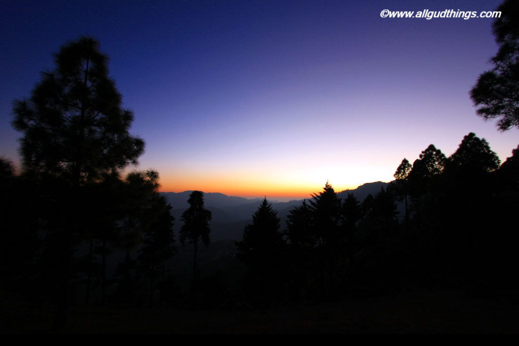 Sunset in Mukteshwar Town
