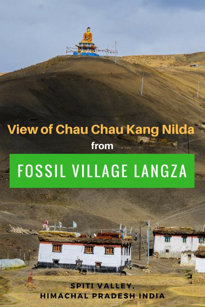 Fossil Village Langza in Spiti Valley, India