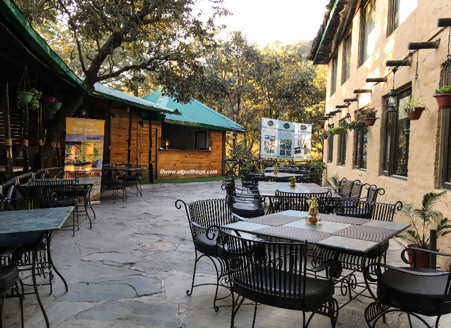 The Colonial; open restaurant at Aamod Resort Shoghi