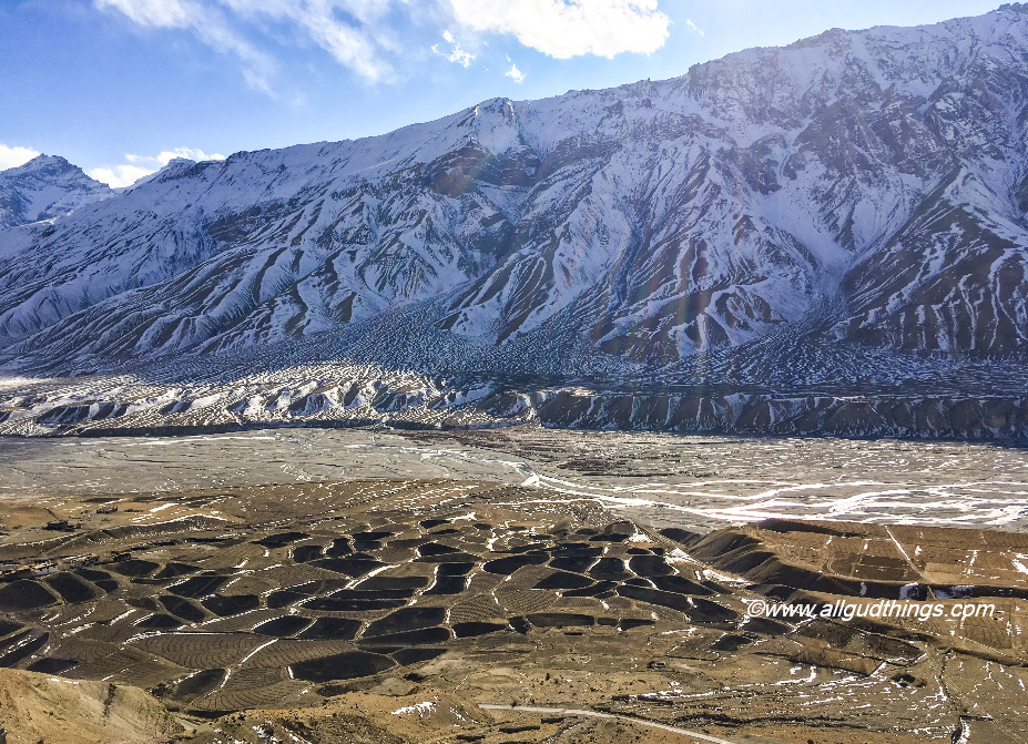 Kaza Village in a blanket of snow: Spiti Valley in Winters
