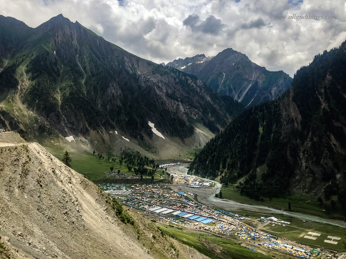 Amarnath Yatra Base Camps at Baltal near Sonamarg