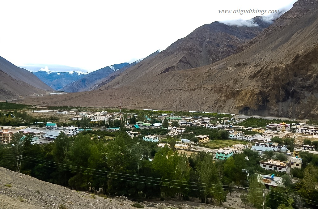 Village Tabo view while hiking for caves