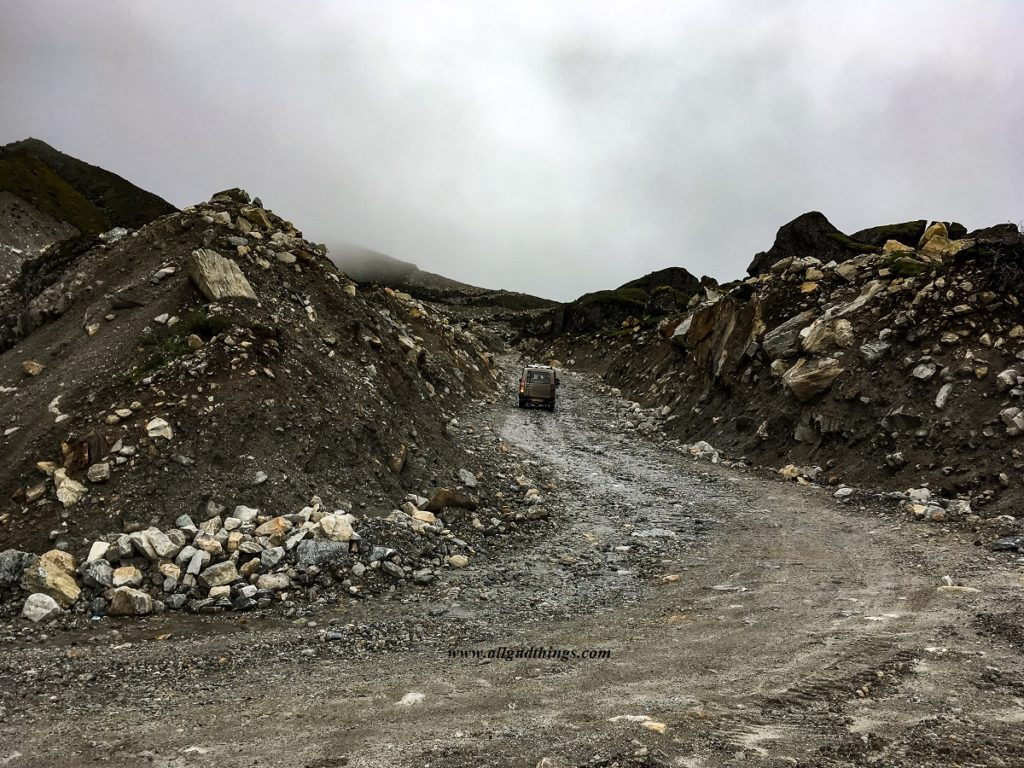 On the way to Kala Pathar in North Sikkim