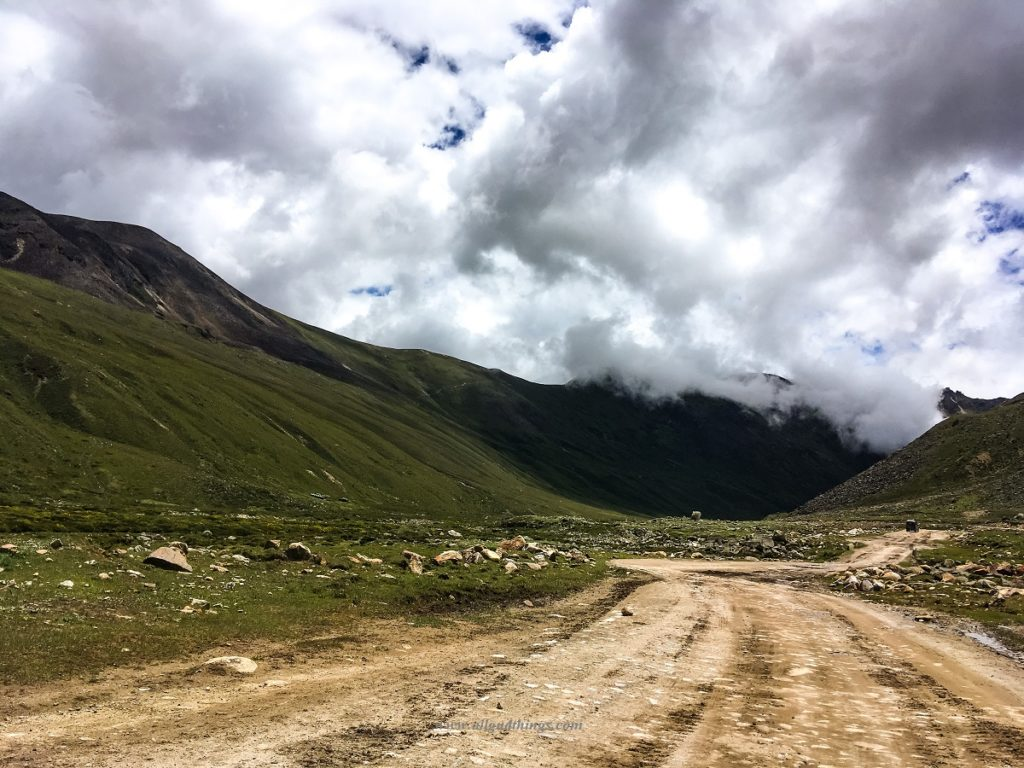 On the way to Lachen from Gurudongmar in North Sikkim
