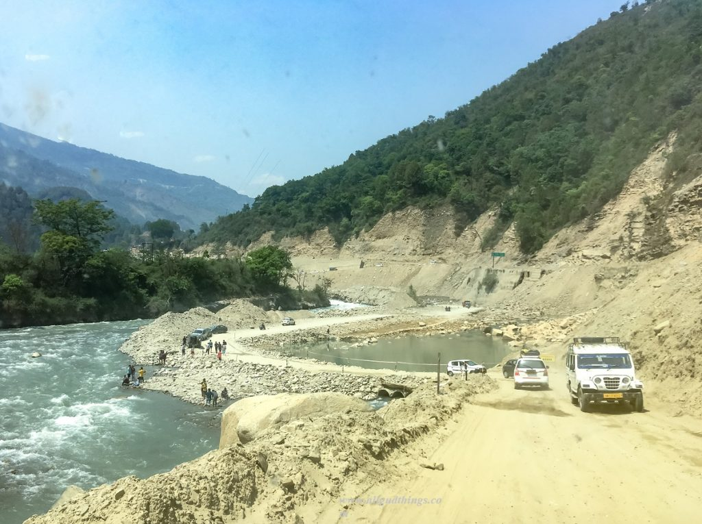 Detours due to Landslides - on the way to Kedarnath