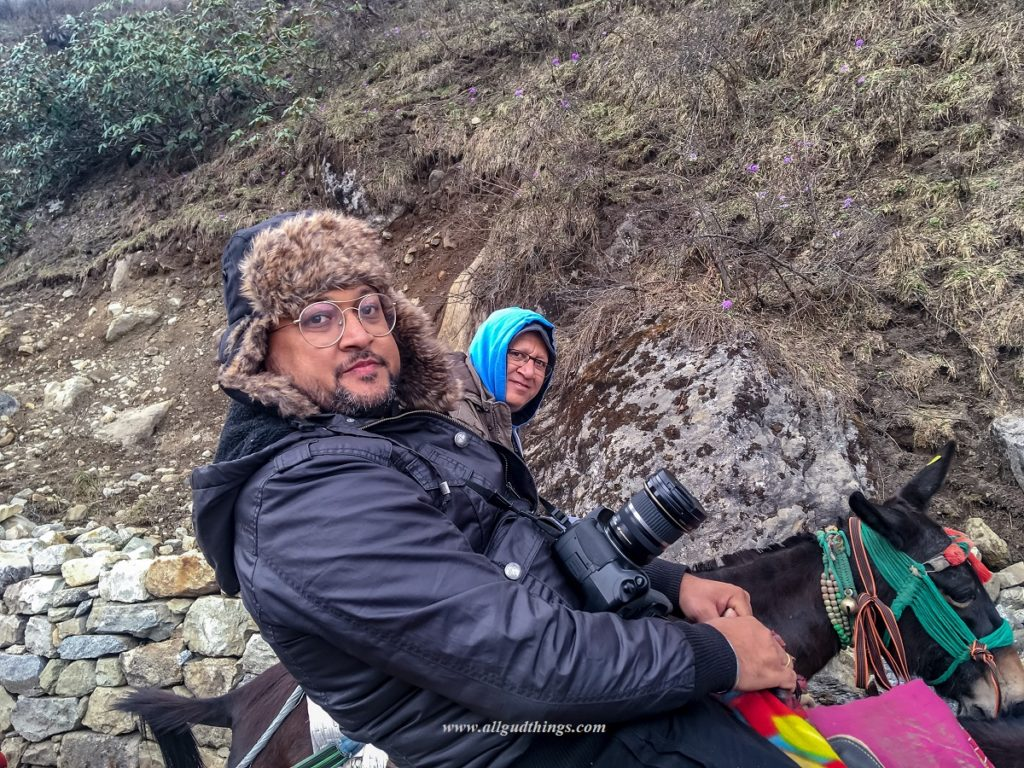 Dressed in Multiple Layers for Kedarnath Trek