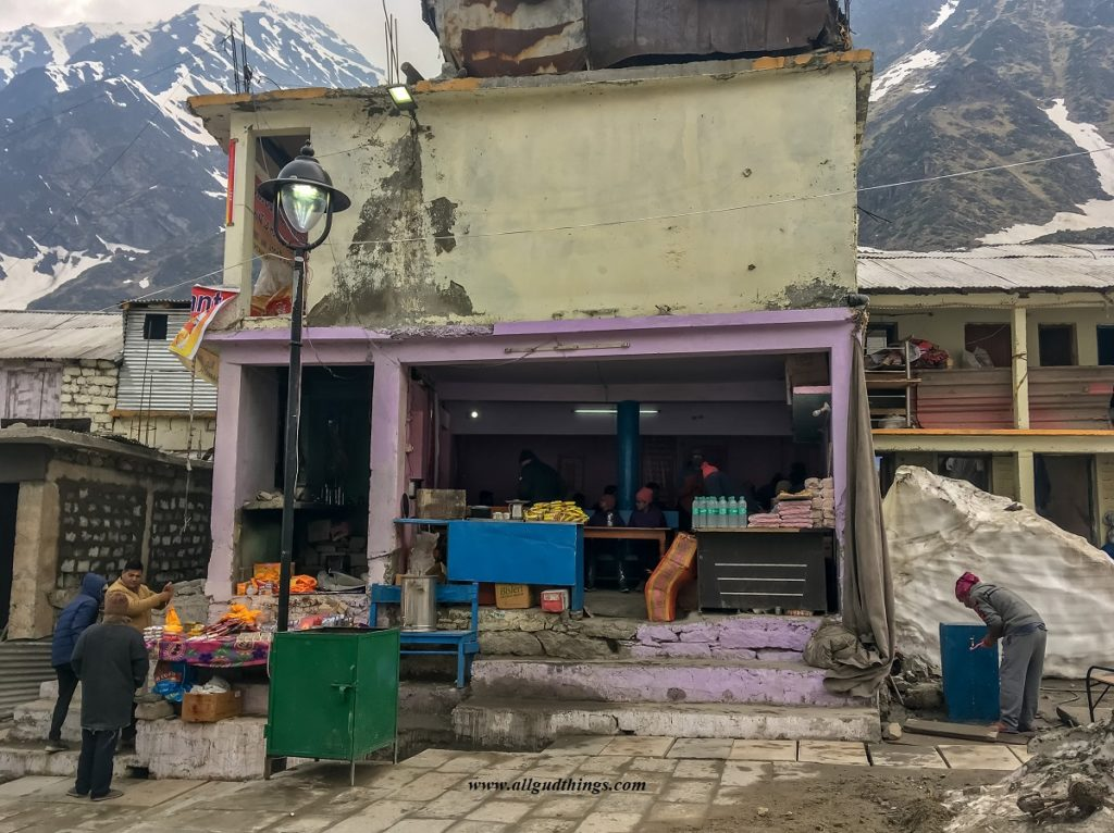 Food Shop at Kedarnath