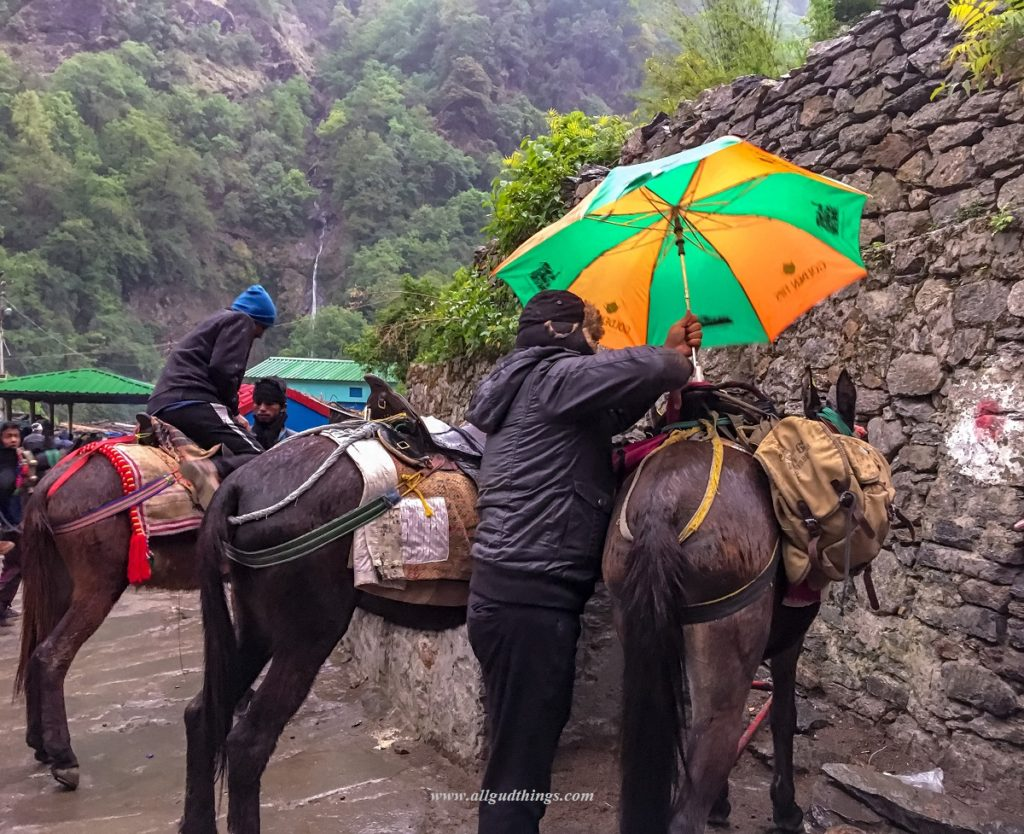 Rains while coming back from Kedarnath Temple