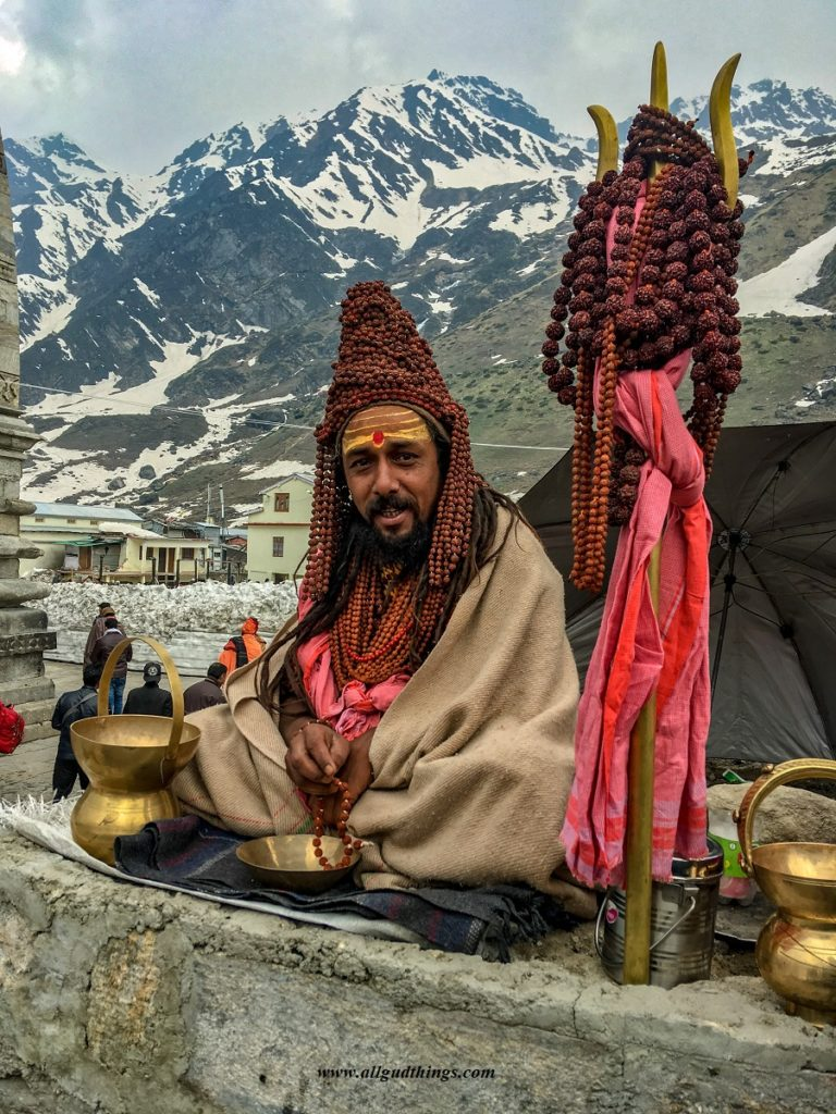 Saints at Kedarnath Temple