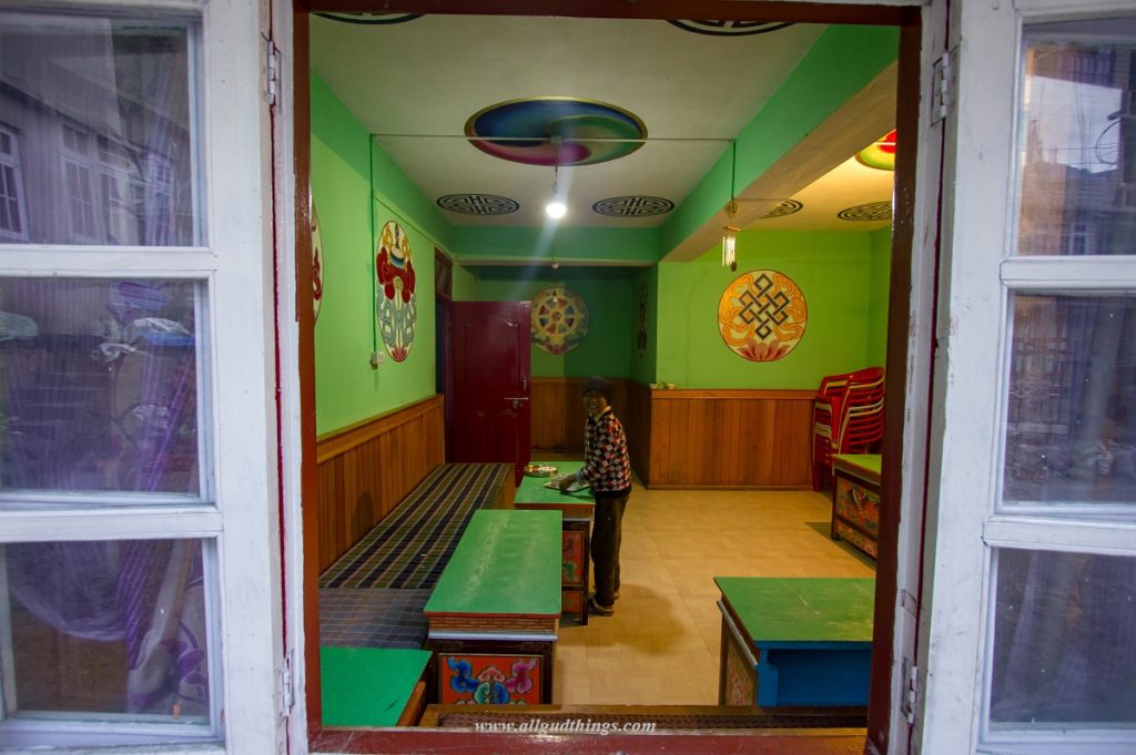 The Colorful Dining area of Hotel Sinolchu at Lachen