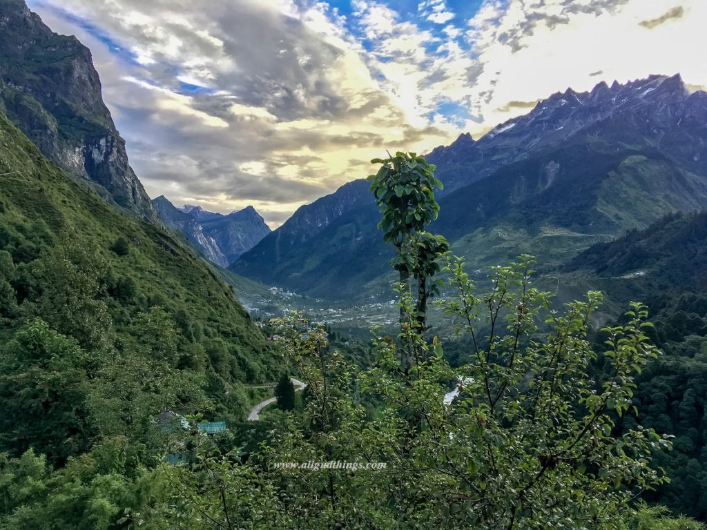 View from our room in Lachung- Darjeeling Sikkim Tour